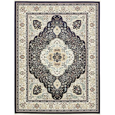Anita Navy Blue Area Rug Rug Size: 13 x 198