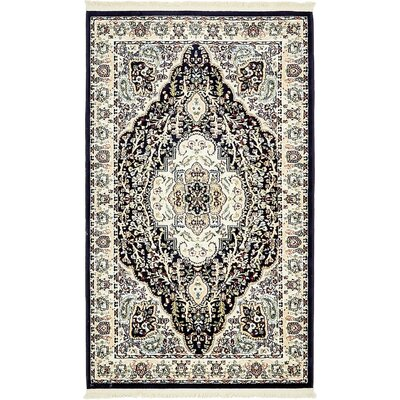 Anita Navy Blue Area Rug Rug Size: 3 x 5