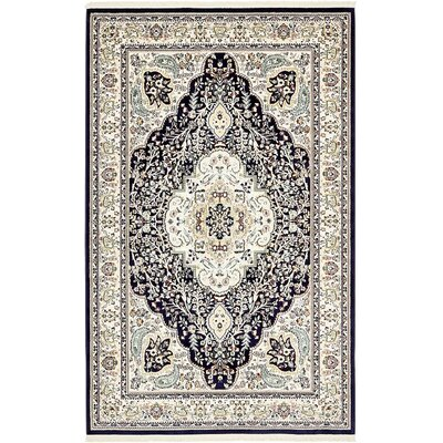 Anita Navy Blue Area Rug Rug Size: Rectangle 5 x 8