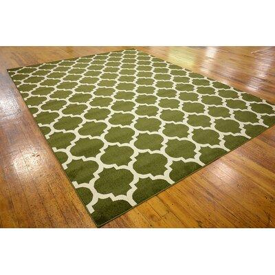 Moore Dark Green Area Rug Rug Size: 9 x 12