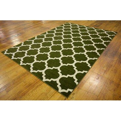 Moore Dark Green Area Rug Rug Size: 7 x 10