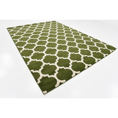 Moore Green/Beige Area Rug Rug Size: Rectangle 8 x 11