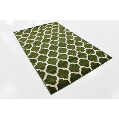Moore Dark Green Area Rug Rug Size: 4 x 6