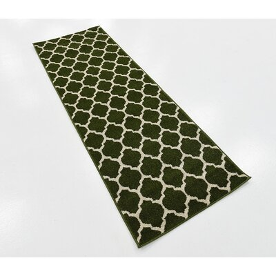 Moore Dark Green Area Rug Rug Size: Runner 2 x 6