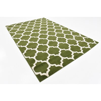 Moore Green/Beige Area Rug Rug Size: Rectangle 6 x 9