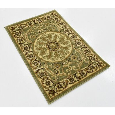 Patton Light Green Area Rug Rug Size: 22 x 3