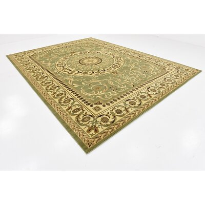 Patton Light Green Area Rug Rug Size: 10 x 13