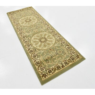 Patton Light Green Area Rug Rug Size: Runner 22 x 6