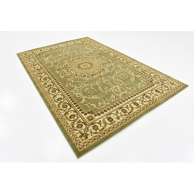 Oskar Light Green Area Rug Rug Size: 6 x 9