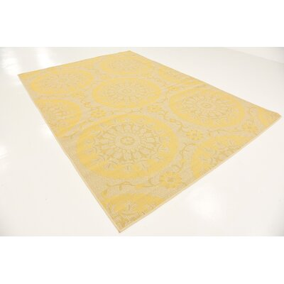 Arabian Yellow Indoor/Outdoor Area Rug Rug Size: 7 x 10