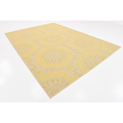 Arabian Yellow Outdoor Area Rug Rug Size: 8 x 114