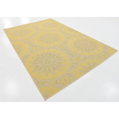 Arabian Yellow Indoor/Outdoor Area Rug Rug Size: 6 x 9