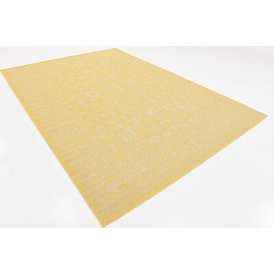 Arbor Glen Yellow Outdoor Area Rug Rug Size: Rectangle 7 x 10