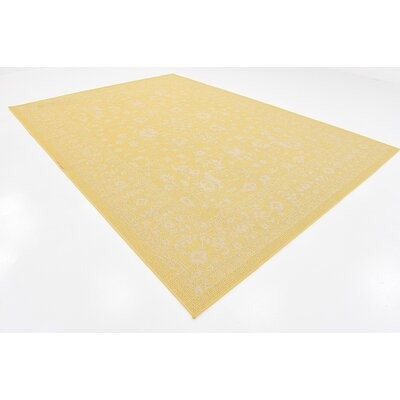Arbor Glen Yellow Outdoor Area Rug Rug Size: 8 x 114