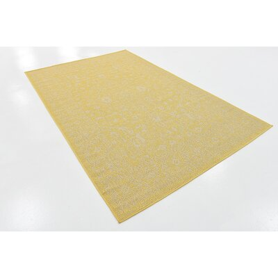 Arbor Glen Yellow Outdoor Area Rug Rug Size: Rectangle 5 x 8