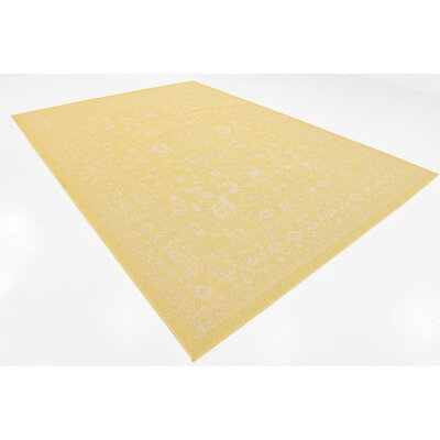 Arbor Glen Yellow Outdoor Area Rug Rug Size: 9 x 12