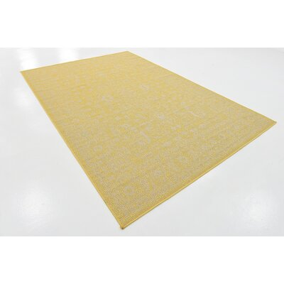 Arbor Glen Yellow Outdoor Area Rug Rug Size: 6 x 9