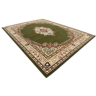 Britain Green Area Rug Rug Size: Rectangle 910 x 13