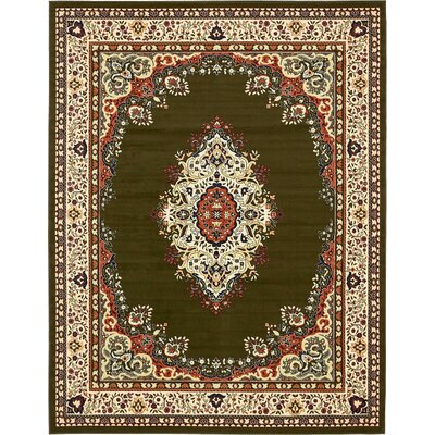 Britain Green Area Rug Rug Size: Rectangle 9 x 12