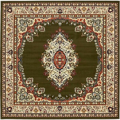 Britain Green Area Rug Rug Size: Square 8