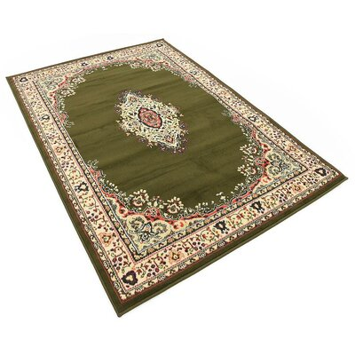 Britain Green Area Rug Rug Size: Rectangle 5 x 8