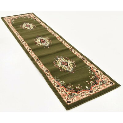 Britain Green Area Rug Rug Size: Runner 3 x 165