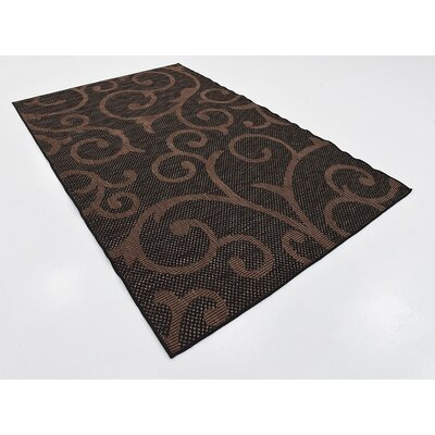 Archibald Chocolate Brown Outdoor Area Rug Rug Size: 5 x 8