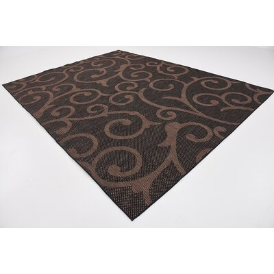 Archibald Chocolate Brown Outdoor Area Rug Rug Size: 9 x 12