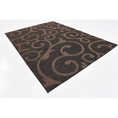 Archibald Chocolate Brown Outdoor Area Rug Rug Size: 6 x 9