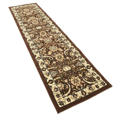 Britannia Brown Area Rug Rug Size: Runner 27 x 10