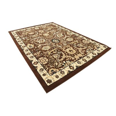 Britannia Brown Area Rug Rug Size: Rectangle 7' x 10'