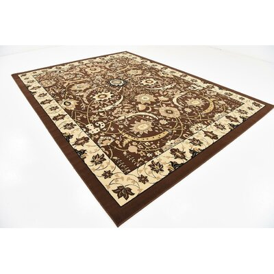Britannia Brown Area Rug Rug Size: Rectangle 9' x 12'