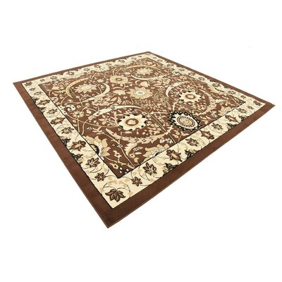 Britannia Brown Area Rug Rug Size: Square 8'