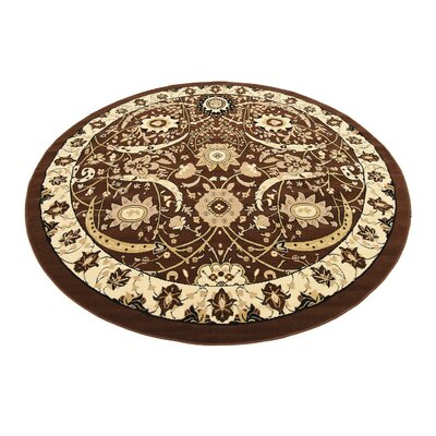 Antoinette Brown Area Rug Rug Size: Round 8
