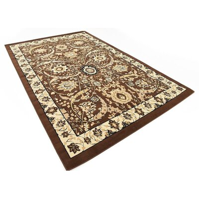 Britannia Brown Area Rug Rug Size: Rectangle 6' x 9'