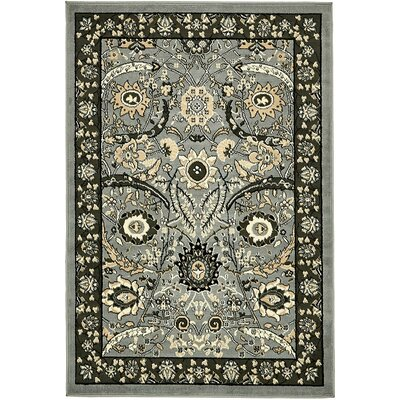 Britannia Dark Gray Area Rug Rug Size: Rectangle 4 x 6