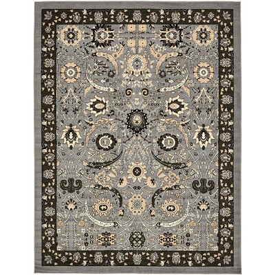 Britannia Dark Gray Area Rug Rug Size: Rectangle 10' x 13'