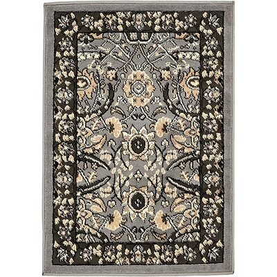 Britannia Dark Gray Area Rug Rug Size: Rectangle 2'2