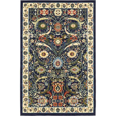 Britannia Navy Blue Area Rug Rug Size: Rectangle 5 x 8