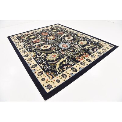Britannia Navy Blue Area Rug Rug Size: Rectangle 8 x 10