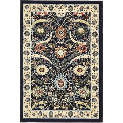 Britannia Navy Blue Area Rug Rug Size: Rectangle 4 x 6