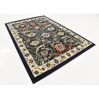 Britannia Navy Blue Area Rug Rug Size: Rectangle 6 x 9