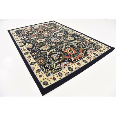 Antoinette Navy Blue Area Rug Rug Size: Rectangle 7 x 10
