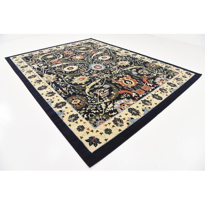 Antoinette Navy Blue Area Rug Rug Size: Rectangle 9 x 12