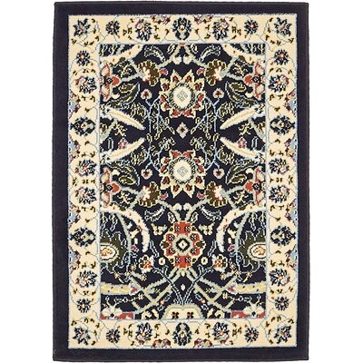 Antoinette Navy Blue Area Rug Rug Size: Rectangle 22 x 3