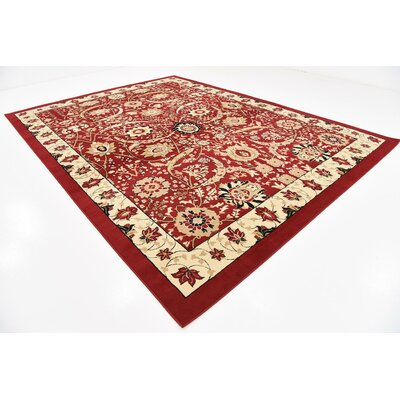 Antoinette Red Area Rug Rug Size: 10 x 13