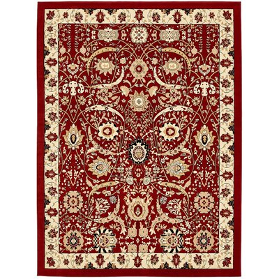 Britannia Red Area Rug Rug Size: Rectangle 10 x 13