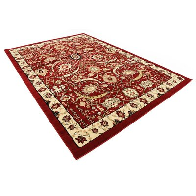 Antoinette Red Area Rug Rug Size: 7 x 10