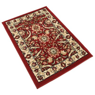 Antoinette Red Area Rug Rug Size: 22 x 3