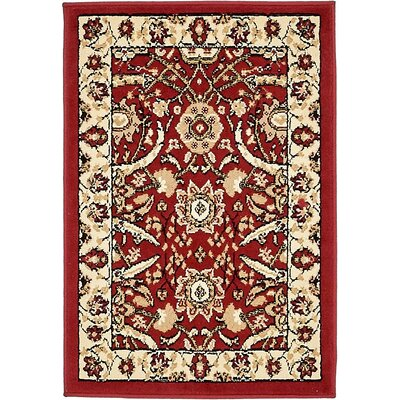 Britannia Red Area Rug Rug Size: Rectangle 22 x 3